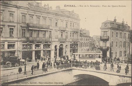 Épinal, Rue de la Faïencerie, Pont des Quatre-Nations