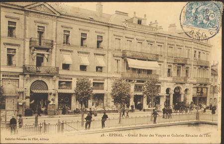 Épinal, Grand Bazar des Vosges et Galeries Réunies de l'Est