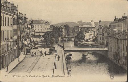 Épinal, Le Canal et les Quai [sic] des Bons-Enfants