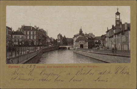 Épinal, Canal des Grands-Moulins et le Boudiou