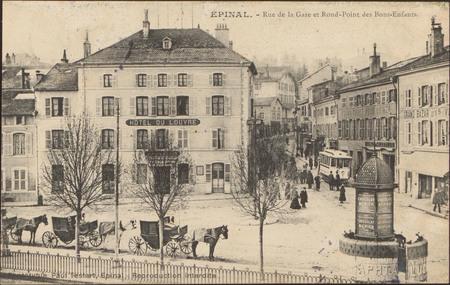 Épinal, Rue de la Gare et Rond-Point des Bons-Enfants