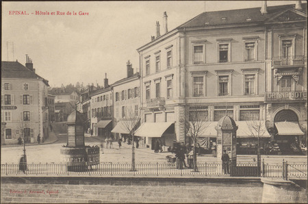 Épinal, Hôtels et Rue de la Gare