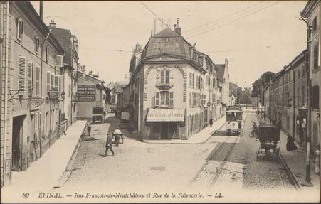 Épinal, Rue François-de-Neufchâteau et Rue de la Faïencerie