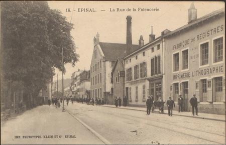 Épinal, La Rue de la Faïencerie