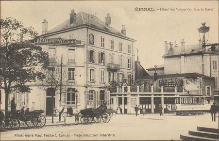 Épinal, Hôtel des Vosges (en face la Gare)
