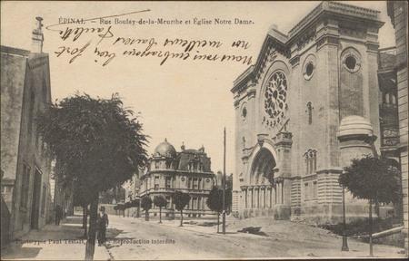 Épinal, Rue Boulay-de-la-Meurthe et Église Notre-Dame
