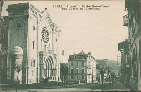 Épinal (Vosges), Église Notre-Dame, Rue Boulay de la Meurthe