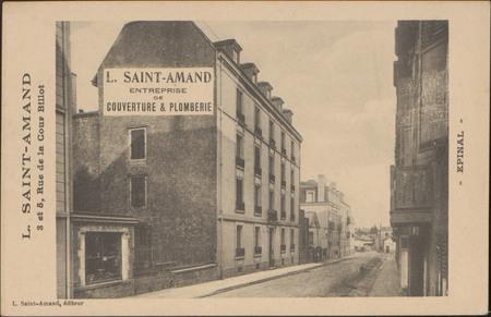 L. Saint-Amant, 3 et 5, Rue de la Cour Billot, Épinal