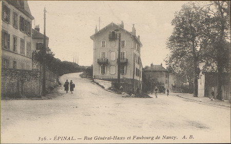 Épinal, Rue Général-Haxo et Faubourg de Nancy