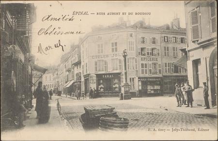 Épinal, Rues Aubert et du Boudiou