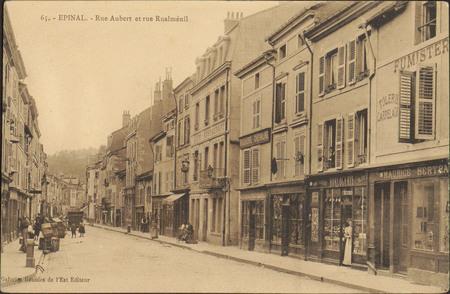 Épinal, Rue Aubert et rue Rualménil
