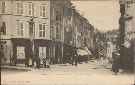 Épinal, Fontaine Pinau, Rue Rualménil