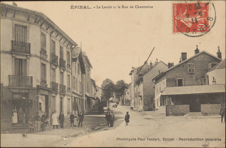 Épinal, Le Lavoir et la Rue de Chantraine