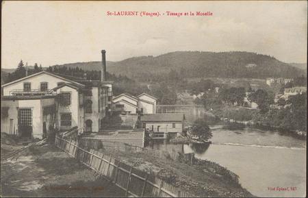 St-Laurent (Vosges), Tissage et la Moselle
