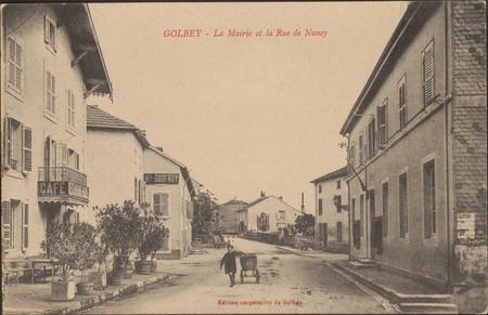 Golbey, La Mairie et la Rue de Nancy