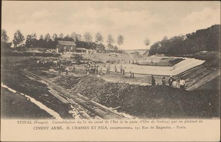 Épinal (Vosges), Consolidation du lit du canal de l'Est […]