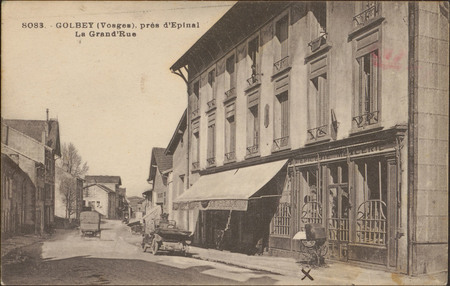 Golbey (Vosges), près d'Épinal, La Grand'Rue