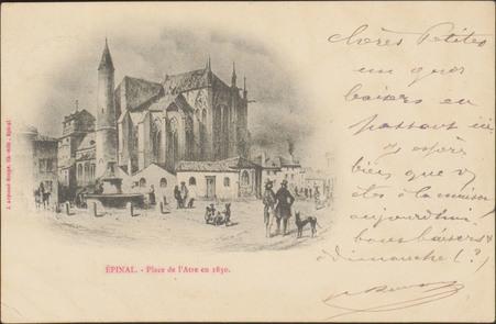 Épinal, Place de l'Atre en 1830