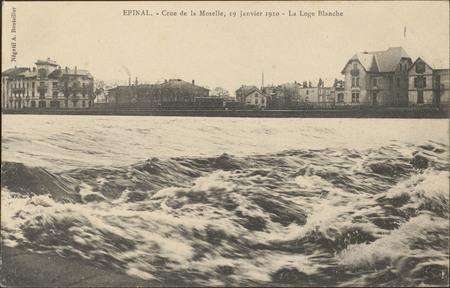 Épinal, Crue de la Moselle, 19 janvier 1910, La Loge Blanche