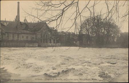 Épinal, Crue de la Moselle, 19 janvier 1910, Ecusson du Musée