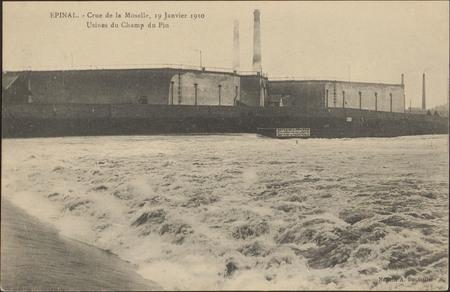Épinal, Crue de la Moselle, 19 janvier 1910, Usines du Champ du Pin