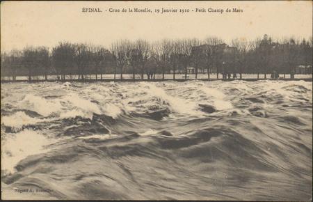 Épinal, Crue de la Moselle, 19 janvier 1910, Petit Champ de Mars