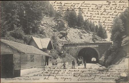 Col de Bussang (Altitude 734 m), Le Tunnel, côté français
