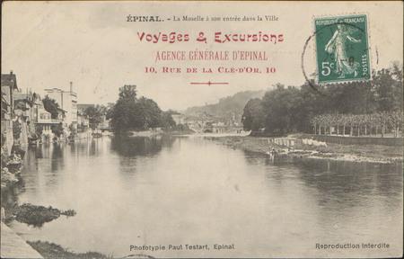 Épinal, La Moselle à son entrée dans la Ville