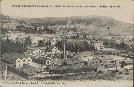 Etablissements Kampmann, Manufacture de Chapeaux de paille, Épinal (France)