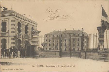 Épinal, Casernes du 8e Bon d'Artillerie à Pied