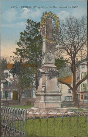 Épinal (Vosges), Le Monument de 1870