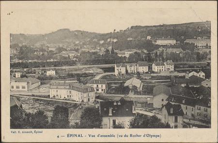 Épinal, Vue d'ensemble (vu du Rocher d'Olympe)