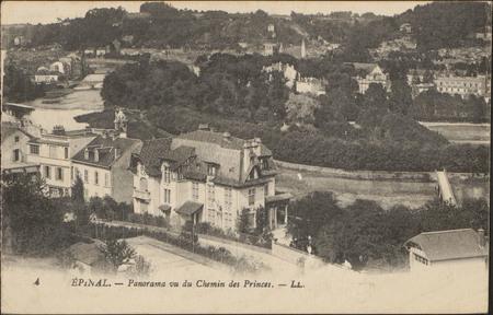Épinal, Panorama vu du Chemin des Princes