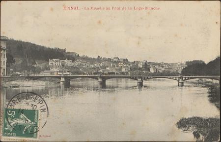 Épinal, La Moselle au Pont de la Loge-Blanche