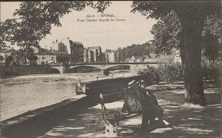 Épinal, Pont Carnot depuis le Cours