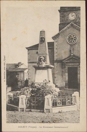 Golbey (Vosges), Le Monument Commémoratif