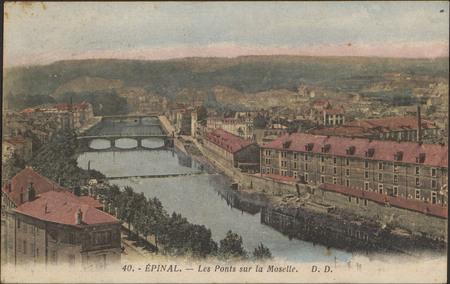 Épinal, Les Ponts sur la Moselle