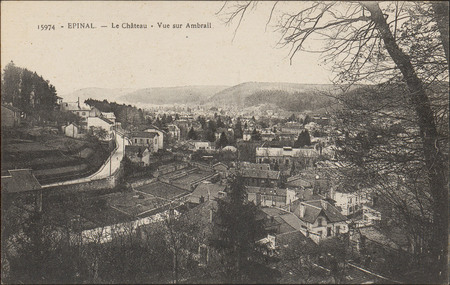 Épinal, Le Château, Vue sur Ambrail