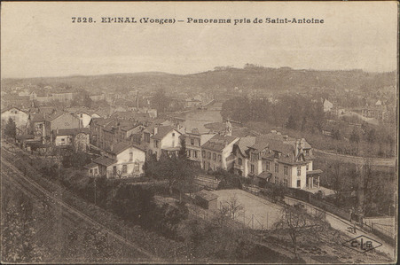 Épinal (Vosges), Panorama pris depuis Saint-Antoine