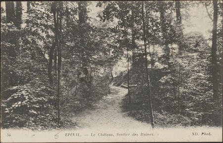 Épinal, Le Château, Sentier des Ruines