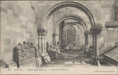 Épinal, Église Saint-Maurice, Galerie des Ruines