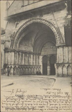 Épinal, Église St-Maurice, Portail des Bourgeois