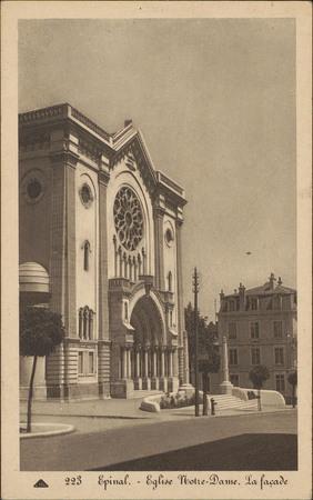 Épinal, Église Notre-Dame, La façade
