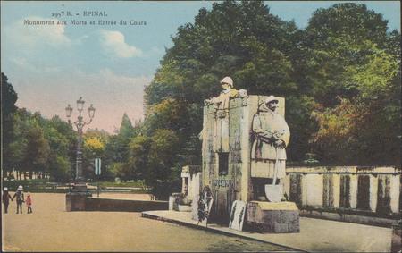 Épinal, Monument aux Morts et Entrée du Cours