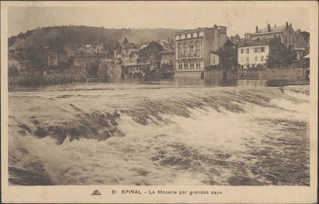 Épinal, La Moselle par grandes eaux