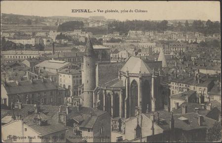 Épinal, Vue générale, prise du Château