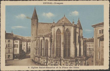 Épinal (Vosges), Église Saint-Maurice et la Place de l'Atre