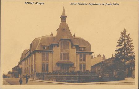 Épinal (Vosges), École Primaire Supérieure de Jeune [sic] Filles