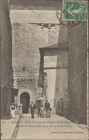 Épinal, Petit Passage de l'Église Saint-Maurice, Entre la Rue Pellet et la…