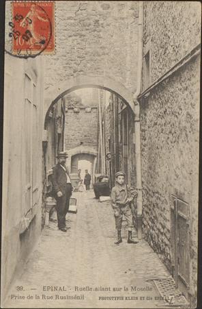 Épinal, Ruelle allant sur la Moselle, Prise de la Rue Rualménil